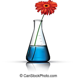 Vector-Chemistry Flask - Adobe Illustrator photo realistic...