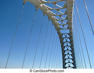 Part of the bridge on the blue sky