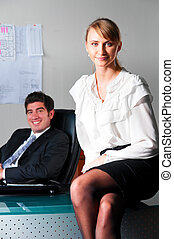 couple at office