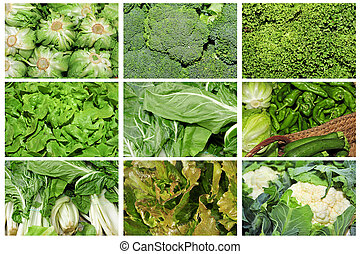 vegetables collage - a collage of nine pictures of different...