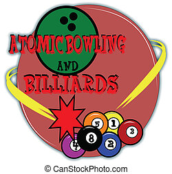 bowling and billiards background - background for bowling on...