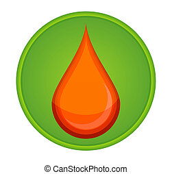 medic symbol blood drop red color
