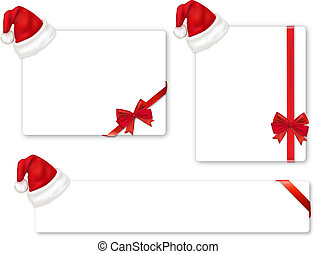 Collection of red bows and hats