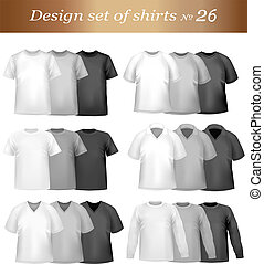 Black and white men polo shirts