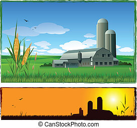 farm background - harvest banners