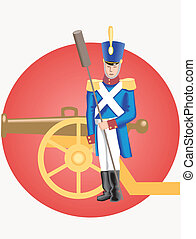 Grenadier and cannon - This is image slender grenadier and...