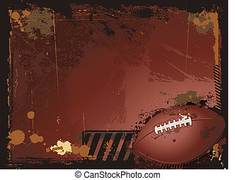 American football background - grunge football background