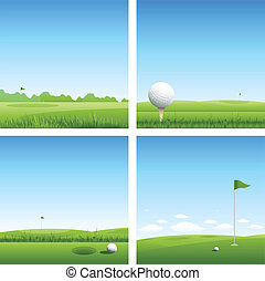Golf background - Vector golf background
