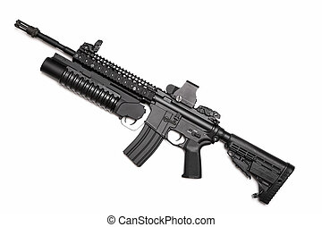 US Spec Ops M4A1 assault rifle with grenade launcher - US...