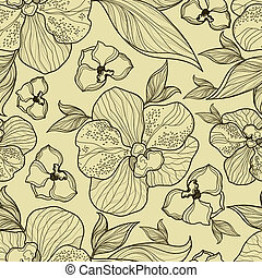 Seamless floral orchid pattern from my big Flower-set...