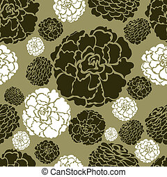 Vector flowers pattern from my big Floral collection