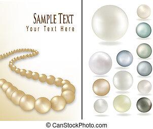 Perls. Vector