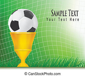 Football background with cup. - Football background with...