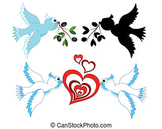 Doves,vector
