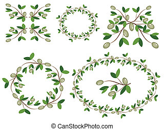 Olive branches decor