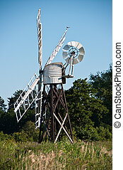 Wind pump - Wind driven water pump for moving water on...