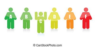 leader standing out concept illustration design