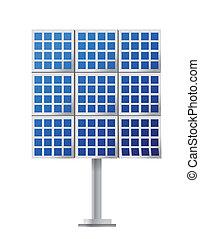 Solar Panel illustration design over a white background