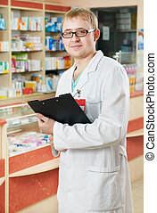 Pharmacy specialist in drugstore