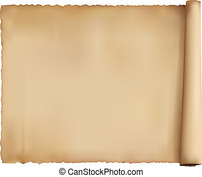 Old worn paper background. Vector.