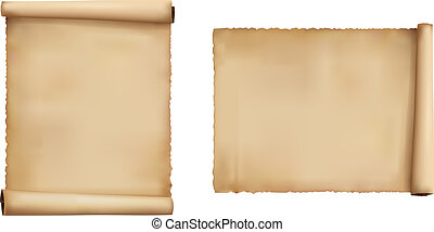 Set of old paper sheets Vector