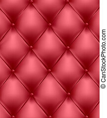 Red genuine leather upholstery Vector Illustration