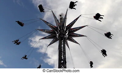 Amusement Park ride - Swing style ride at a Funfair