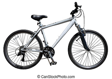 Bike - Mountain bicycle bike isolated on white background