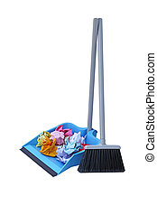 Dust Pan Lobby Broom - Flip lock dust pan lobby broom with...