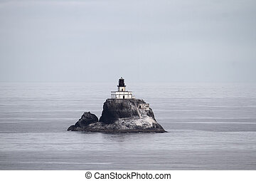 Tillamook Rock Lighthouse at Oregon Coast from Ecola State...