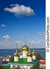 Russian church - Cupola of John the Baptist church, Nizhny...