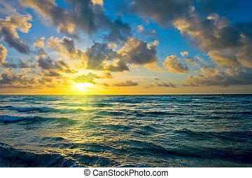 Sunrise, Atlantic ocean coast, FL, USA