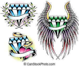 diamond set emblem