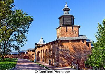 Nizhny Novgorod kremlin - Chasovaya tower of Nizhny Novgorod...
