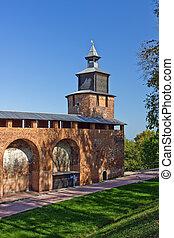Nizhny Novgorod kremlin - Clock tower of Nizhny Novgorod...