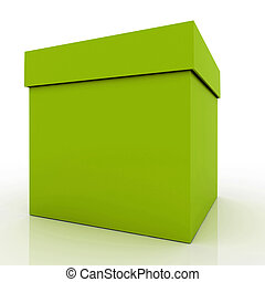 Gift box - 3D render of a gift box over white