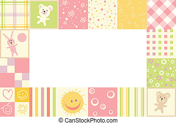 Girl baby frame - Girls children border of the patterns