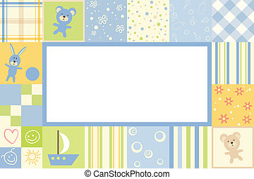 Boy baby frame - Boy children border of the patterns
