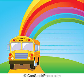 Yellow School Bus background - Back to school. Yellow School...