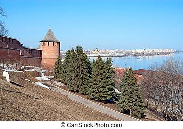 Nizhny Novgorod kremlin wall, Russia