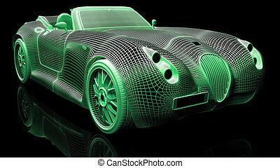 Car design, wire model
