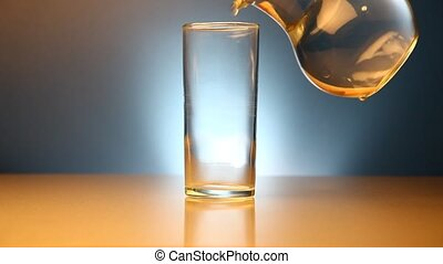 Effervescent tablet - Water pouring and effervescent tablet...
