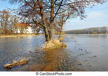 Flood in the north part of the Czech Republic