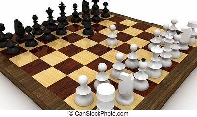 Chess match - Chess check mate seen from raising and...
