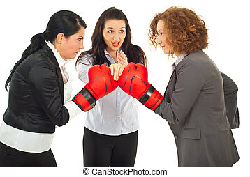 Start business competition - Referee executive woman give...