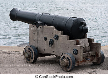 Naval cannon - Old No idea how old, Im afraid