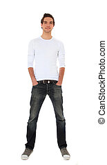 Young man - Full length shot of an attractive young man. All...