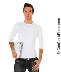 Student - Attractive student All on white background