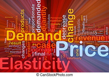 Price elasticity background concept glowing - Background...