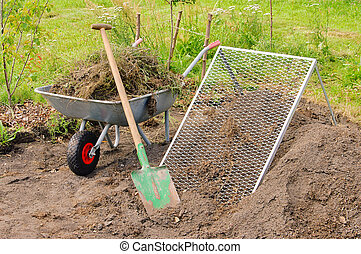 compost pile sieve 01